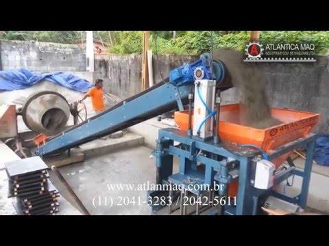 Máquina Pneumática de Fazer Blocos de cimento ATLANTICA MAQ