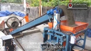 Máquina Pneumática de Fazer Blocos de cimento - ATLANTICA MAQ