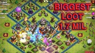 Biggest Loot Clash Of Clans - Big loot raid town hall 10
