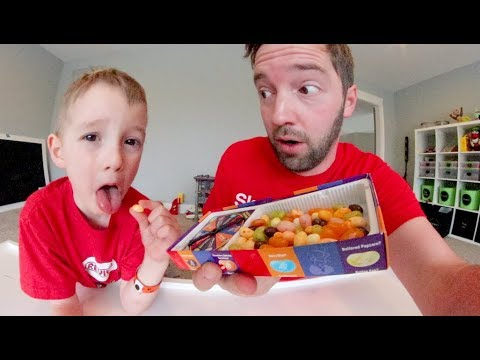 FATHER SON PLAY BEAN BOOZLED Jelly Bean Taste Test