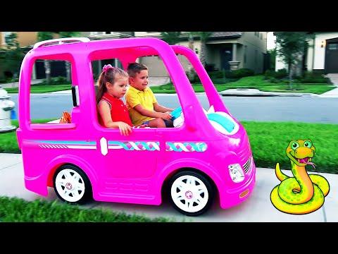 डियेना और उनकी बार्बी कार कैम्पिंग एडवेंचर Diana and Roma in hindi