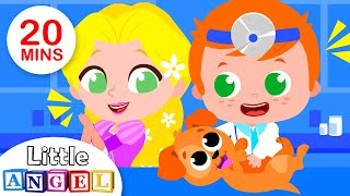 Rapunzel Takes her Pets to the Vet, Learn Professions, Itsy Bitsy Spider, Kids Songs by Little Angel