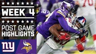 Giants vs. Vikings (Week 4) | Game Highlights | NFL