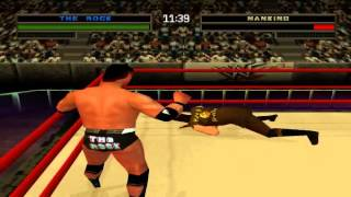 WWF/WWE Warzone - Challenge Mode With The Rock (PS1)
