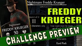 Freddy Krueger Challenge requirements and BOSS Battle Preview. (MKX Mobile)