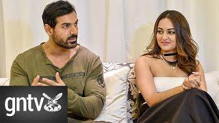 Bollywood stars John Abraham and Sonakshi Sinha talk about