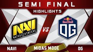 NaVi vs OG Semi Final Midas Mode 2017 Highlights Dota 2