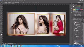 photoshop wedding album template tutorial