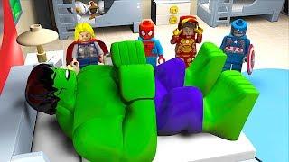 ALARM CLOCK Wake Sleeping HULK Attack StopMotion Cartoon Movie Avengers Superheroes OLAF