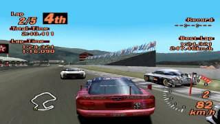 Gran Turismo 2 - Laguna Seca Raceway - STP Taisan Viper - ePSXe 1.8.0
