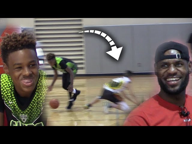 LeBron James WATCHES HIS SON BREAK ANKLES!