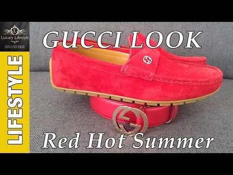 Gucci Drivers & Leather Belt - Red Hot Summer #Gucci #fashion