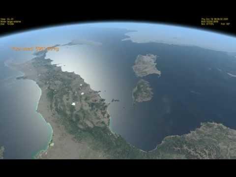 Orbiter l Italia vista dallo spazio da 400 Km di altezza