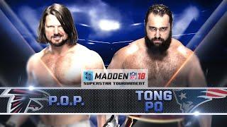 Madden 18 Tournament Rd. 1: AJ STYLES vs. RUSEV - Gamer Gauntlet