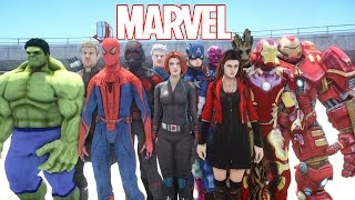 ALL MARVEL SUPERHEROES IN GRAND THEFT AUTO