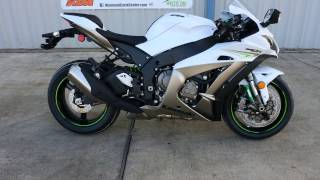 $15,099:  2017 Kawasaki ZX10R Ninja Pearl Blizzard White Overview and review