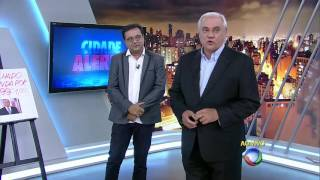 Geraldo Luis visita Marcelo Rezende no Cidade Alerta
