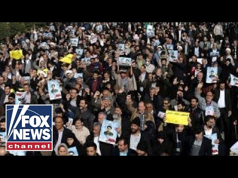 Iranian protestors thank Trump, America for their support