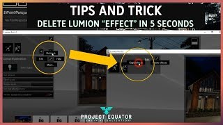 "Lumion Tips and Trick - Delete Lumion ""EFFECT"" in 5 Seconds"
