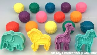 Fun Creative with Glitter Play Dough and Animal Molds for Kids