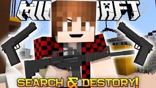 Minecraft: NEW! Search & Destroy Mini-Game Challenge! (Guns in Minecraft!)