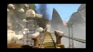 Roller coaster on a wild island (5D Cinema)