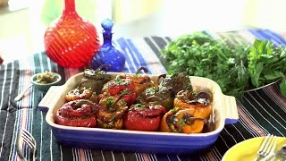 Ariana's Persian Kitchen -  Stuffed Bell Peppers/آشپزخانه ایرانی آریانا – دلمه فلفل