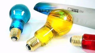 DIY Edible Light Bulb Jelly ! COLORS BULB GUMMY & Coca-cola Jello   MonsterKids