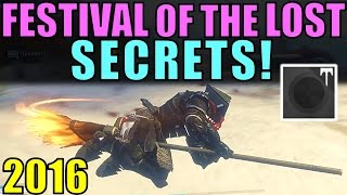 Destiny: SECRETS of Festival of the Lost! | How to Get a BROOMSTICK and Superblack Shader!