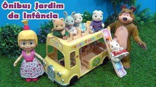 Masha e o Urso  Ônibus do Jardim da Infãncia vira Parquinho - Nursery Bus Masha and The Bear