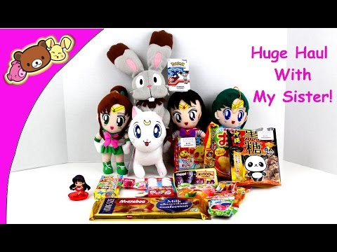 Huge Haul With My Sister! - Sailor Moon, Japanese Candy, and More!