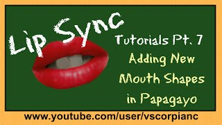 Lip Sync Tutorials Pt 7 - How to Add Your Custom Mouth Shapes in Papagayo by VscorpianC