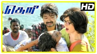Theri Movie scenes | Baby Nainika school bus accident | Mahendran learns Vijay is alive | Amy