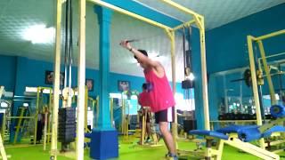 latihan barbel tangan gym volley ball