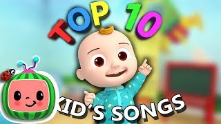 "Top 10 Popular Kids Songs | ""Johny Johny Yes Papa"" + More Nursery Rhymes"