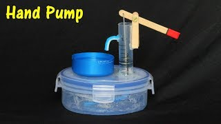 How to make a Hand Water Pump using Syringe - Syringe Pump