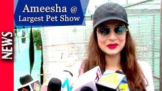 Latest Bollywood News - Ameesha Patel Inaugurates Largest Pet Show- Bollywood Gossip 2016