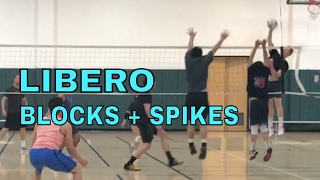 LIBERO SPIKES / BLOCKS - Open Gym Volleyball Highlights (3/9/17)