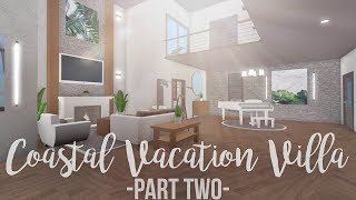Bloxburg: Coastal Vacation Villa 180K (Part 2)