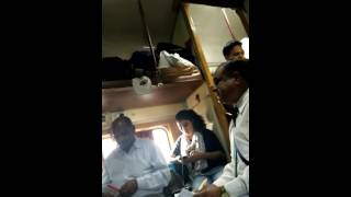 Ex Railway staff member misbehaving with students in Train from Delhi to Ahmadabad on 20/5/16