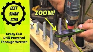 Crazy Fast! Drill Powered Wrench! New Invention!