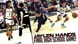 Jaylen Hands LAST High School Game Ends With OVERTIME Game Winner! Foothills Christian VS Oak Park