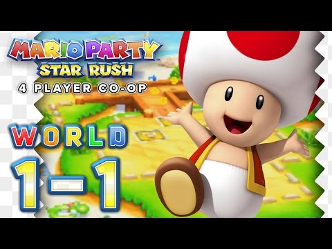 Mario Party Star Rush Toad Scramble WORLD 1 1 4 Player