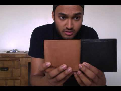 LEABAGS Springfield genuine buffalo leather wallet in vintage style - Brown