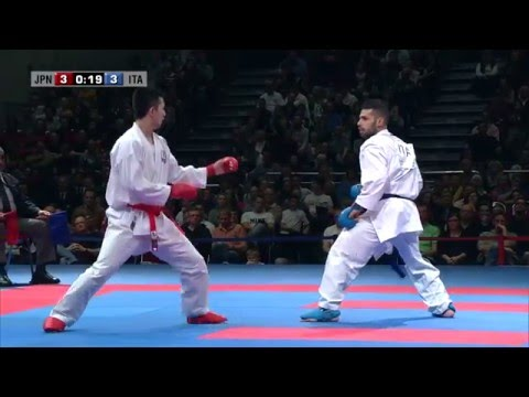 FINAL. Luigi BUSA vs Ryuichi TANI. 2014 World Karate Championships. Male Kumite -75kg