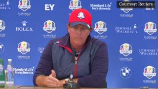 Phil Makes Crack at Rory's Expense During Ryder Cup Press Conference
