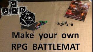 RPG battlemat solution: vinyl and gaming paper.