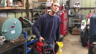 Visiting Chucke2009 repairing his iron worker  HTP Inverarc200TLP