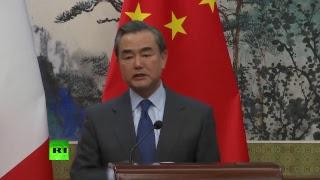 Conférence de presse de Jean-Yves Le Drian et de son homologue chinois Wang Yi