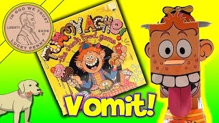 Tommy Tummy Ache Junk Food Game, He Throws Up! Colorforms Family Game!